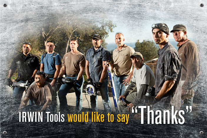 IRWIN Tools would like to say Thanks