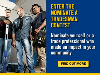 Enter the Nominate a Tradesman Contest Today