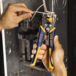 Self adjusting wire stripper tools irwin tools click a thumbnail to view a larger image greentooth Choice Image