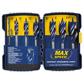 Irwin 6pc Max Speed Wood Auger Set