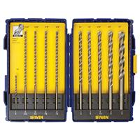 10-Piece Rotary Percussion Drill Bit Set