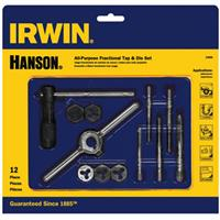 12-pc Machine Screw / Fractional Tap & Hex Die Set