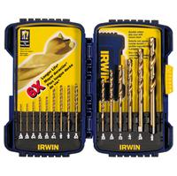 15 pc Titanium Nitride (TiN) Coated Drill Bit Set