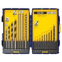 17-Piece Wood, Metal, Masonry Drill Bit Set