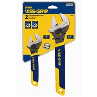 2-pc Adjustable Wrench Set