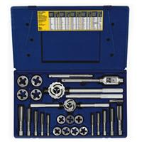 25-pc Fractional Tap & Adjustable / Solid Round Die Set