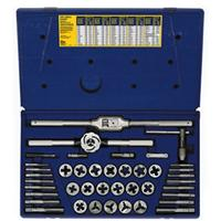 41-pc Cut Thread Fractional Tap & Adjustable Die Set