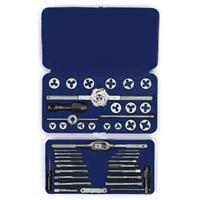 41-pc Machine Screw / Fractional / Metric Tap & Hex Die Set