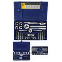 64-pc Machine Screw / Fractional Tap & Solid Adjustable Round Die Set