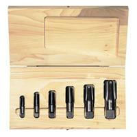 6pc Cut Thread Taper Pipe Tap Set (HSS)
