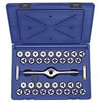 "HANSON 38-Piece Machine Screw, Fractional & Metric 1"" Hex Die Set"