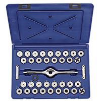 HANSON 38-Piece Machine Screw, Fractional & Metric Self Alignment Die Set